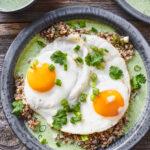 Grains & Eggs with Cilantro Yogurt Sauce