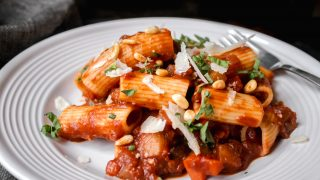 Mushroom & Eggplant Vegetarian Bolognese