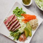 Sushi Salad with Wasabi Crusted Ahi Tuna