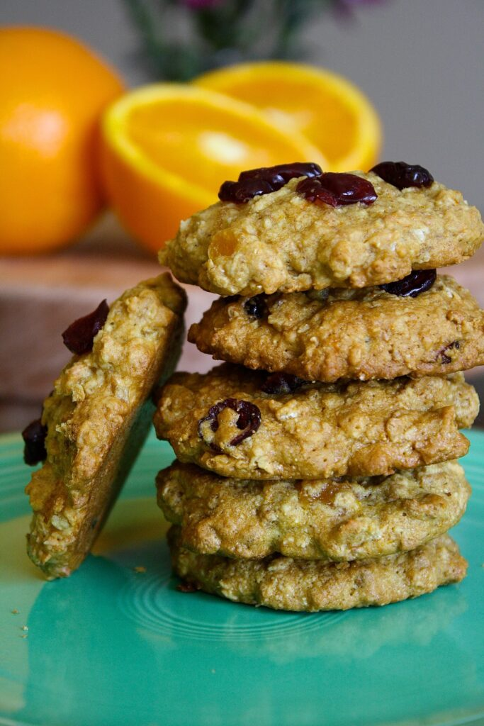 Healthy Citrus Oatmeal Cookies