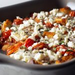 Baked Eggs with Tomatoes, Feta, and Croutons | Zestful Kitchen