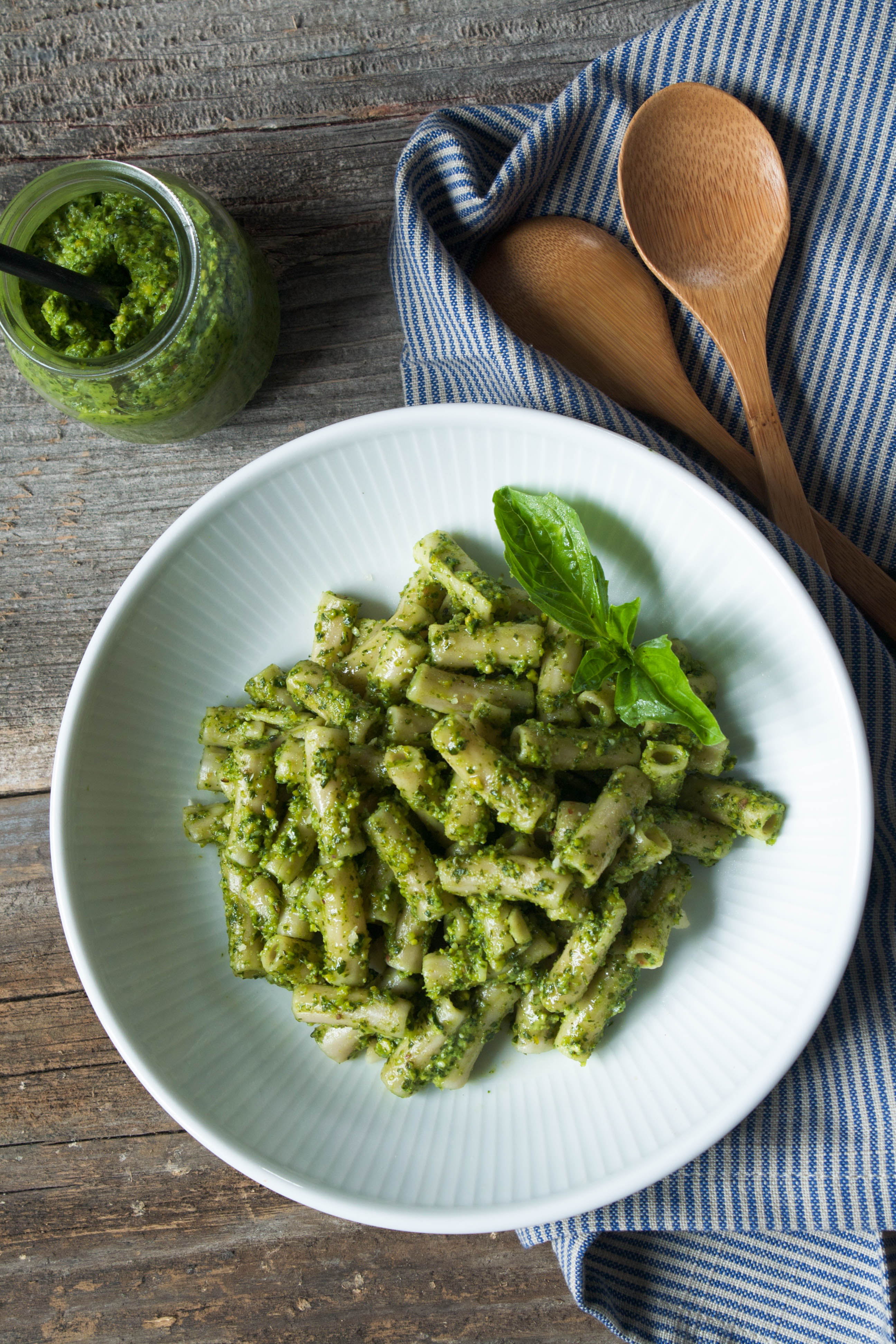 Pistachio & Arugula Basil Pesto + 4 Ways to Use Pesto