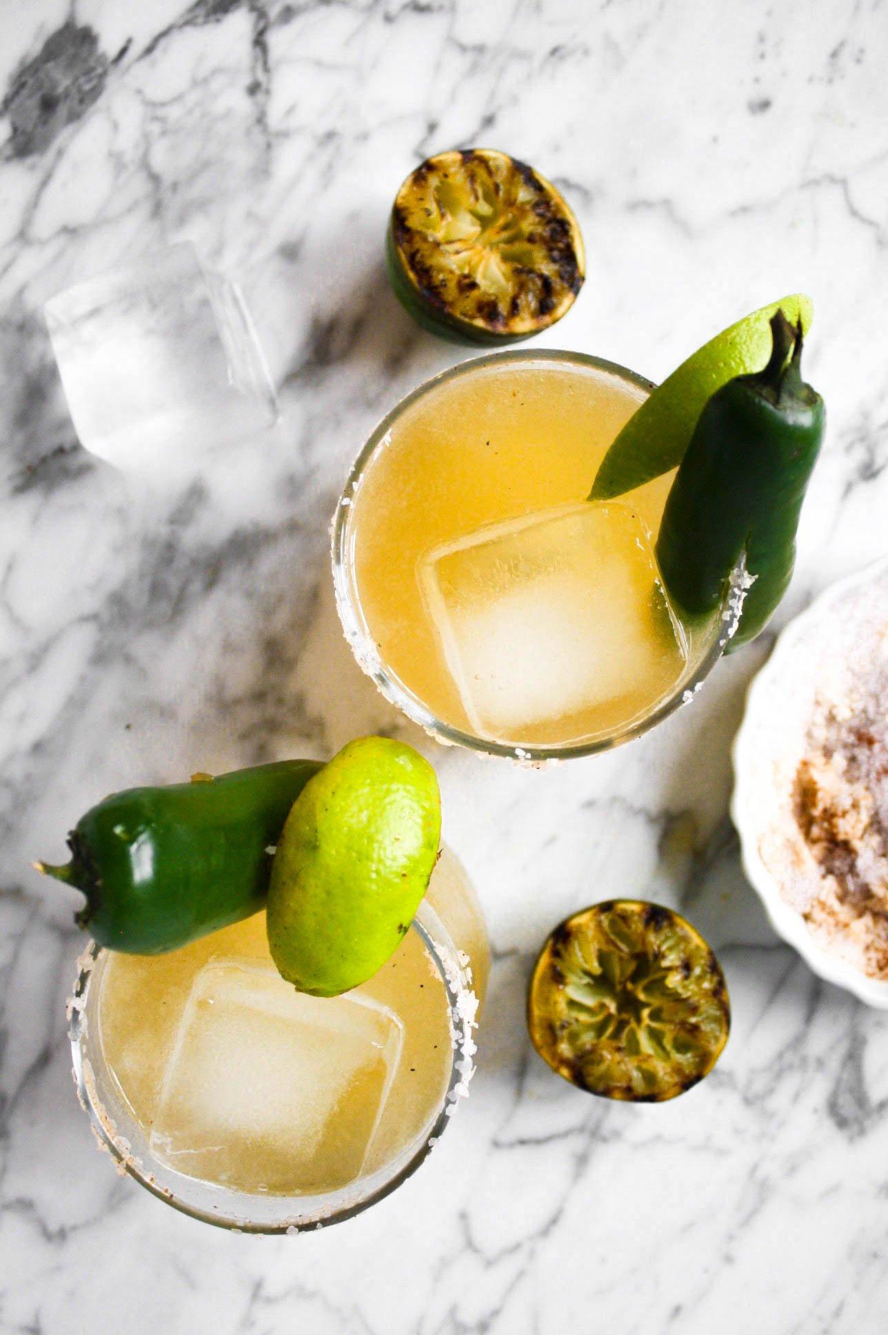 Charred Lime & Jalapeño Margaritas | Zestful Kitchen