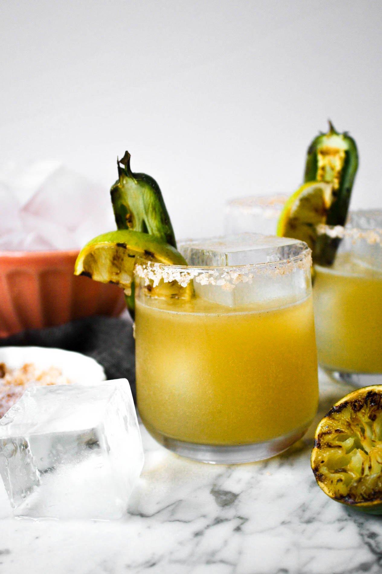 Charred Lime & Jalapeño Margaritas   Zestful Kitchen