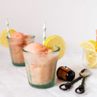 Sparkling Rhubarb – Lemon Ice