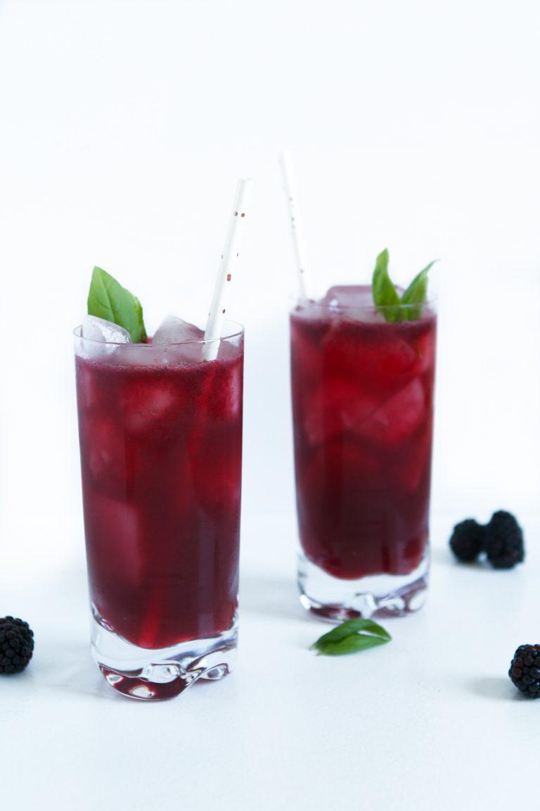 Blackberry & Basil Gin Smash   Zestful Kitchen