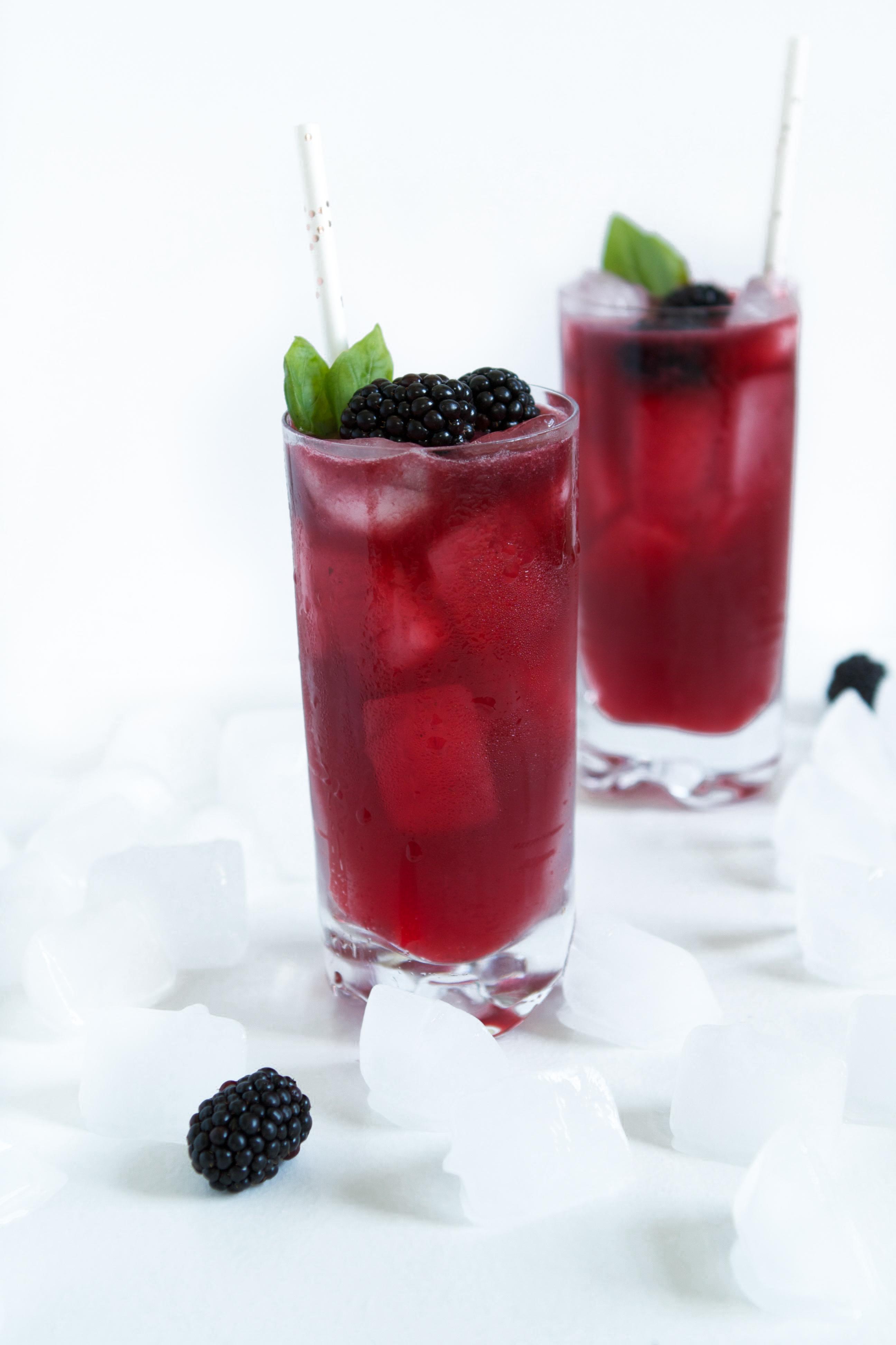 Blackberry & Basil Gin Smash | Zestful Kitchen