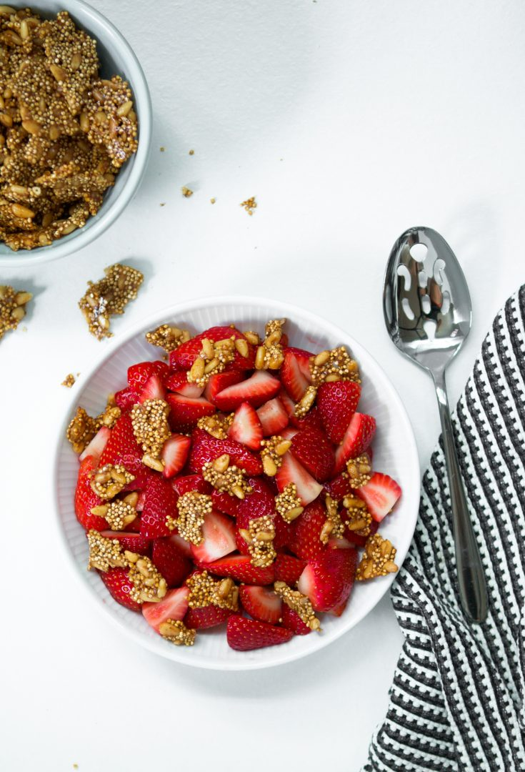 Strawberry & Pine Nut Brittle Salad