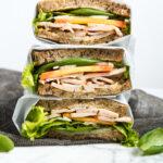 Turkey, Peach & Basil Sandwich | Zestful Kitchen