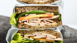 Turkey, Peach & Basil Sandwiches