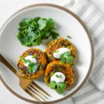 Curried Sorghum & Carrot Veggie Cakes