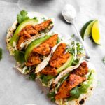 Chipotle Tempeh Tacos with Green Apple Slaw