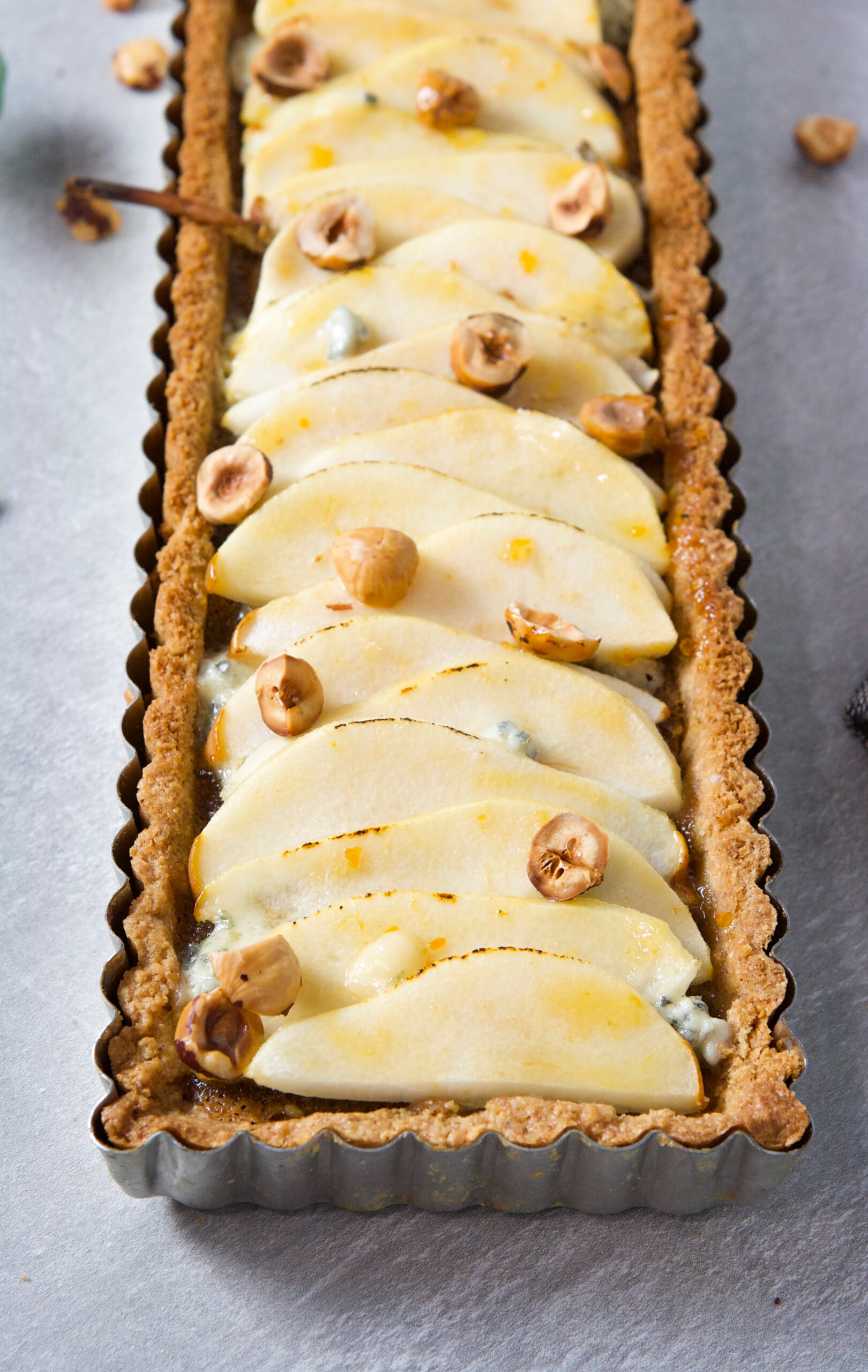 This Pear, Hazelnut and Blue Cheese Tart has everything going for it. It's nutty, lightly sweetened, and just a touch of salty, making it a perfect treat to finish off any meal.   Zestful Kitchen
