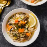 Healthy Slow Cooker Turkey Wild Rice Soup