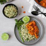 Chicken Tikka Masala with Cilantro–Lime Sorghum