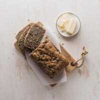 Buckwheat Rhubarb Bread