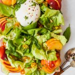 Simple Summer Salad with Peaches and Burrata