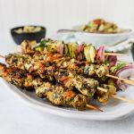 Triple Herb Chicken & Zucchini Skewers