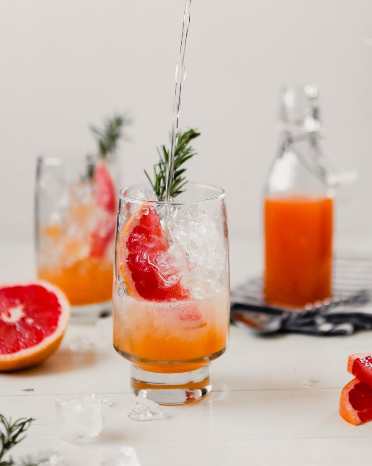 Non-Alcoholic: Naturally Sweetened Grapefruit Rosemary Soda