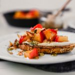 Ricotta Toast with Spiced Apples and Rosemary Honey