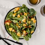 Winter Green Salad with Oranges and Candied Pistachios