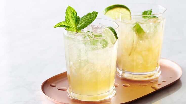Non-Alcoholic: Sparkling Mint-Lime Iced Tea