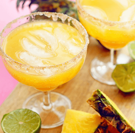 Non-Alcoholic: Pineapple Mocktail Margaritas