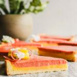 Lemon Rhubarb Curd Tart