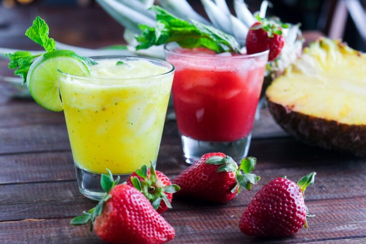 Non-Alcoholic: Strawberry-Lime & Pineapple-Mint Agua Fresca
