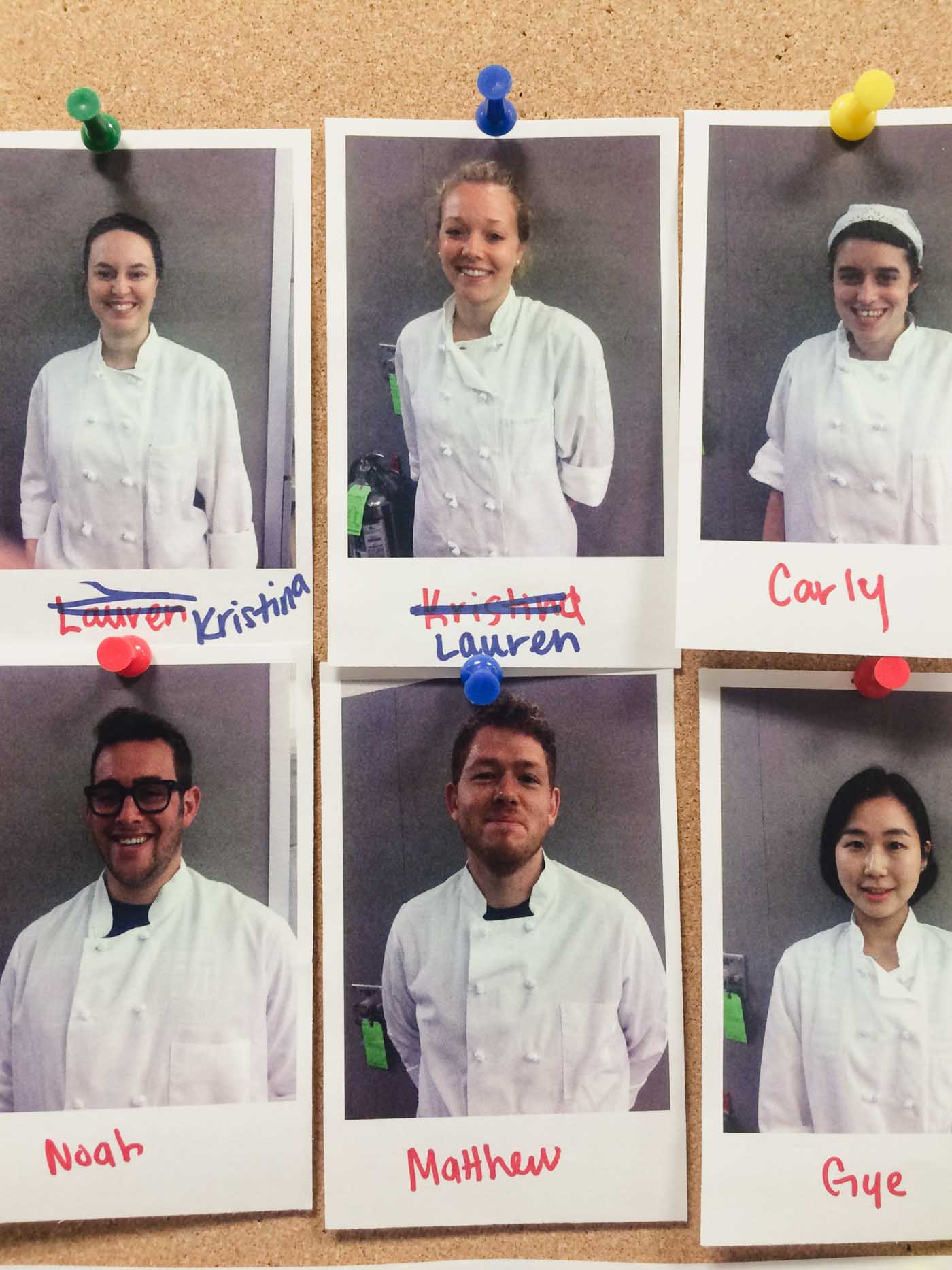 Photograph of interns at America's Test Kitchen in Boston