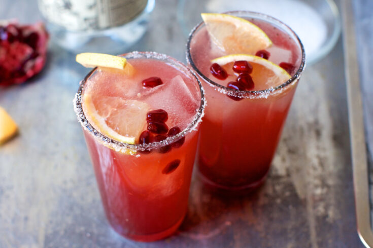 Pomegranate Grapefruit Paloma