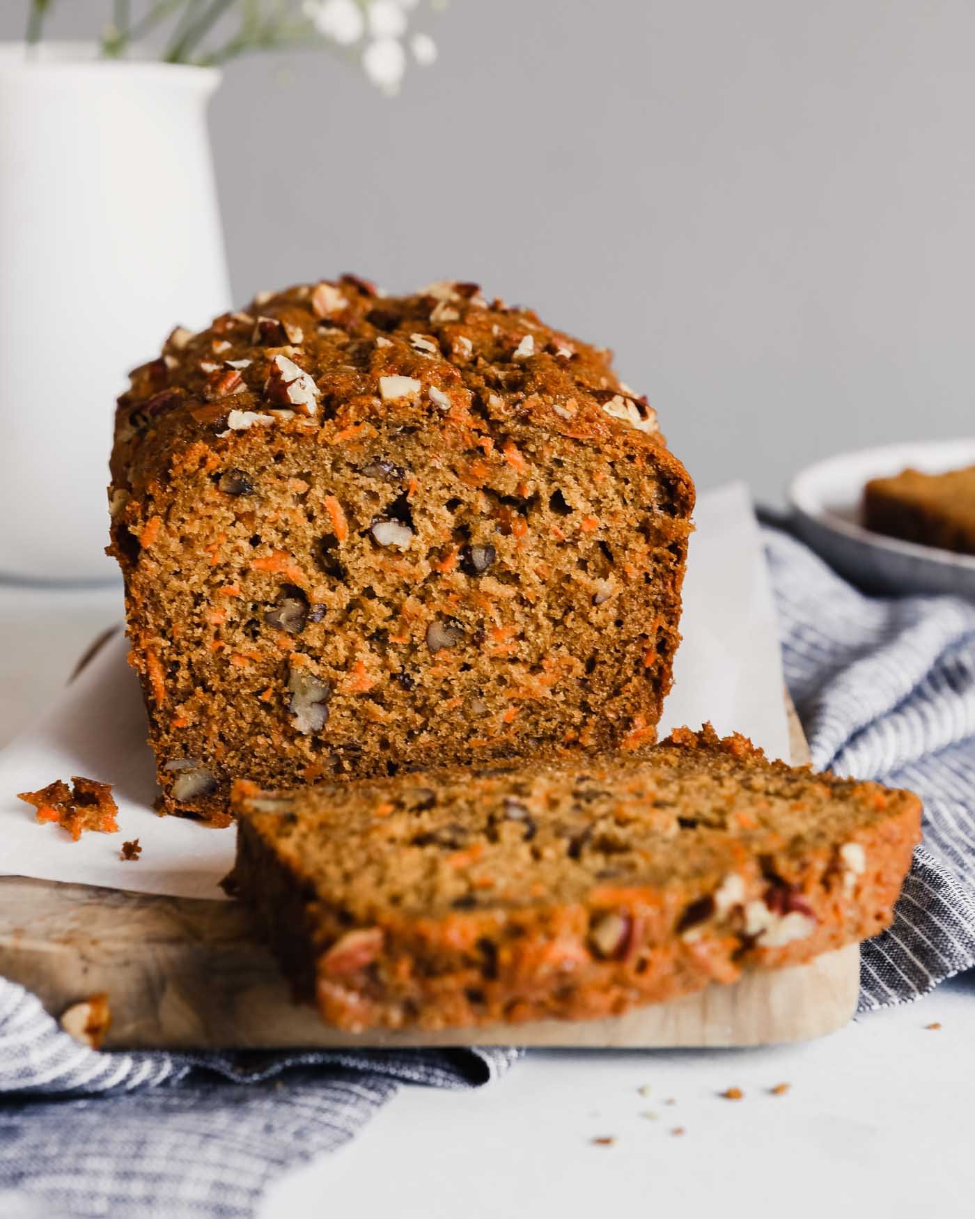 Healthy Carrot Bread with Browned Butter — Zestful Kitchen