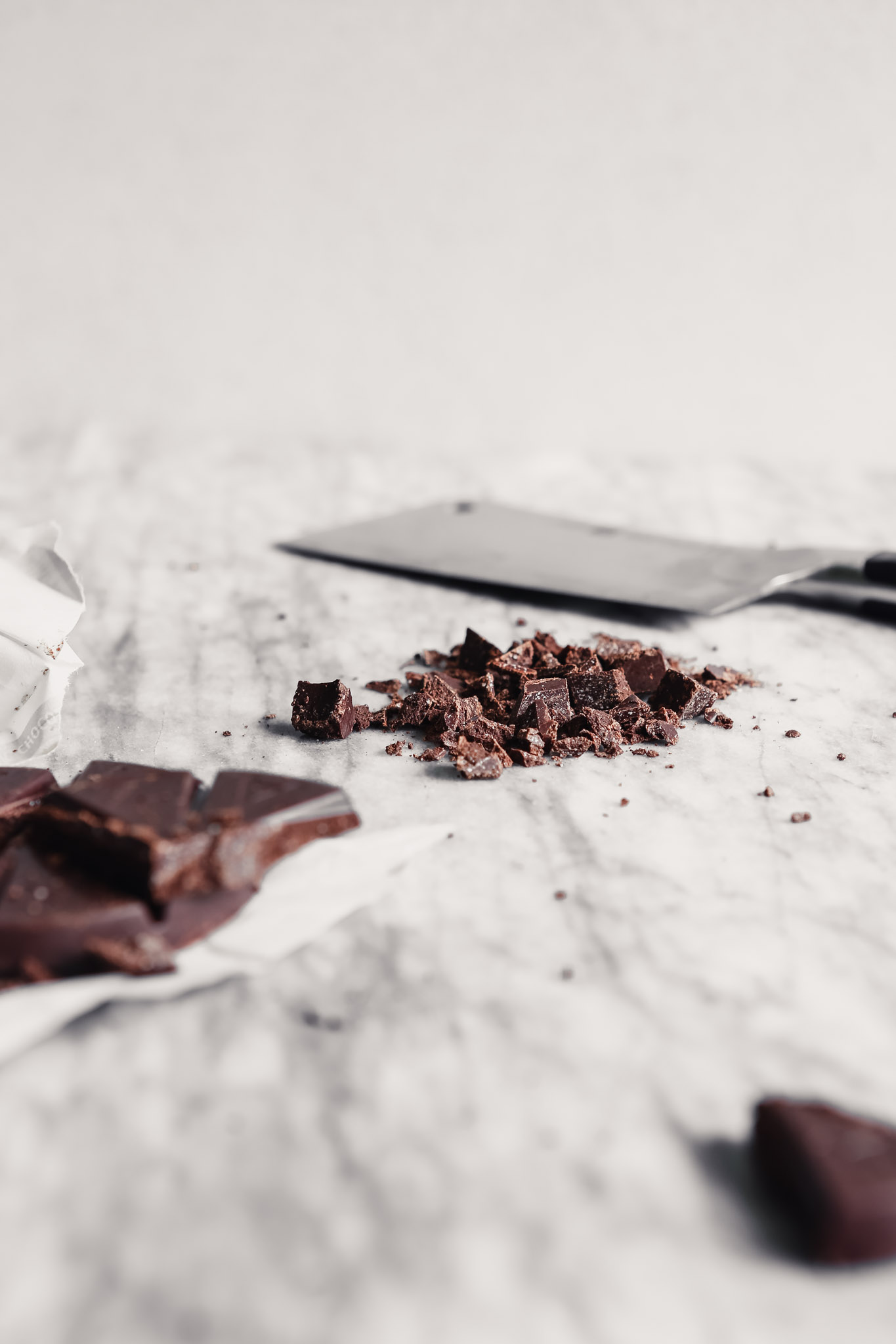 Photograph of chopped Mexican chocolate