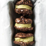 Gluten Free Mint Chocolate Ice Cream Sandwiches
