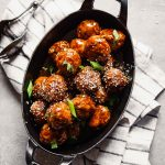 Glazed Asian Turkey Meatballs