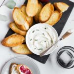 Cranberry Curd Part II: Whipped Ricotta Crostini