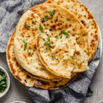 Garlic Naan with Garlic Browned Butter