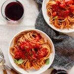 Quick Red Wine Pasta Sauce
