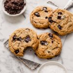 Chewy Tahini Chocolate Chip Cookies