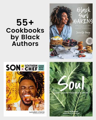 grid of cookbook covers