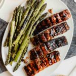 Grilled Balsamic Glazed Salmon with Asparagus