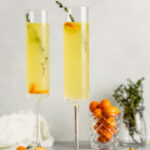 Elegant Kumquat & Thyme Vodka Cocktail