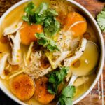 Healthy Aromatic Chicken Rice Soup