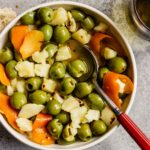 Citrus Marinated Olives and Manchego